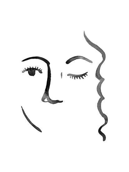 Face in a Crowd IV-Grace Popp-Art Print