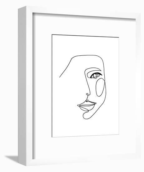 Face Line 1-Design Fabrikken-Framed Art Print