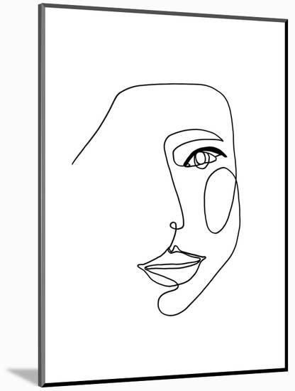 Face Line 1-Design Fabrikken-Mounted Art Print
