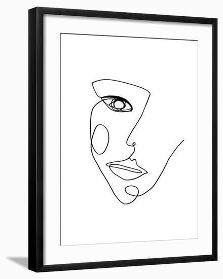Face Line 2- Design Fabrikken-Framed Art Print