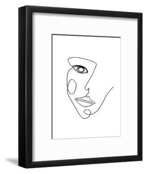 Face Line 2-Design Fabrikken-Framed Art Print
