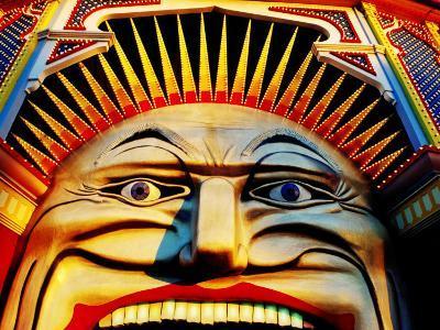 Face of Luna Park at Sunset St. Kilda, Melbourne, Australia-Richard I'Anson-Photographic Print