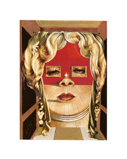 Face of Mae West, c.1935-Salvador Dal?-Art Print