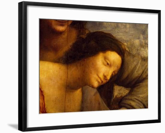Face of Virgin, Detail from St Anne, Virgin and Child with Lamb, 1508-1513-Leonardo da Vinci-Framed Giclee Print