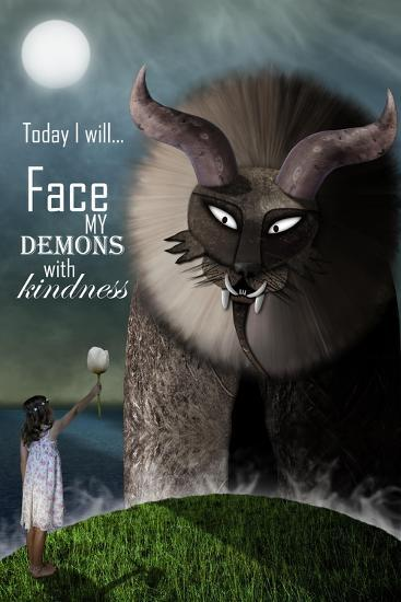 Face your Demons-Carrie Webster-Giclee Print