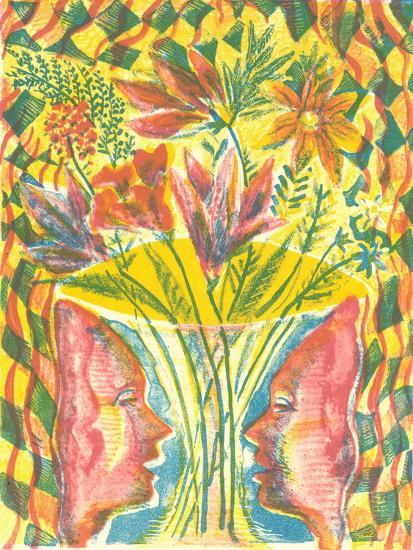 Faces and Flowers-Mary Kuper-Giclee Print