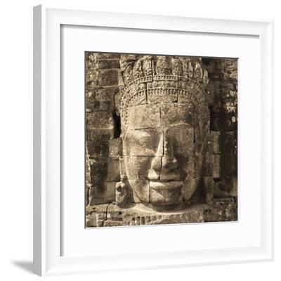 Faces of Avalokiteshvara, Bayon Temple, Angkor Thom, Angkor, Siem Reap, Cambodia--Framed Photographic Print