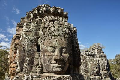 Faces Thought to Depict Bodhisattva Avalokiteshvara, Angkor World Heritage Site-David Wall-Photographic Print