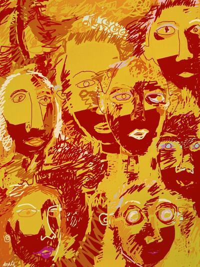 Faces: Yellow and Red-Diana Ong-Giclee Print