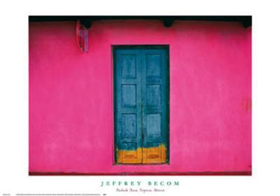 Fachada Rosa, Teopisca, Mexico-Jeffrey Becom-Art Print