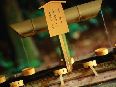 Facilities for Hand Washing at Shrine Tokyo, Kanto, Japan-John Hay-Photographic Print