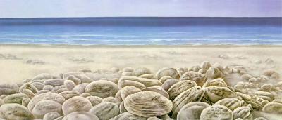 Facing the Waves III-G. Moss-Art Print
