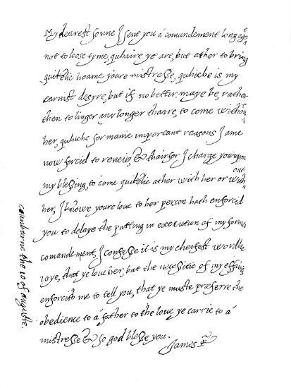 'Facsimile of a Letter, Dated 10th August, 1623, (1904)-Unknown-Giclee Print