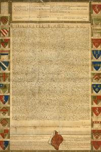 Facsimile Of Burnt Magna Carta