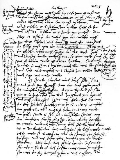 Facsimile of Martin Luther's Handwriting, 1903--Giclee Print