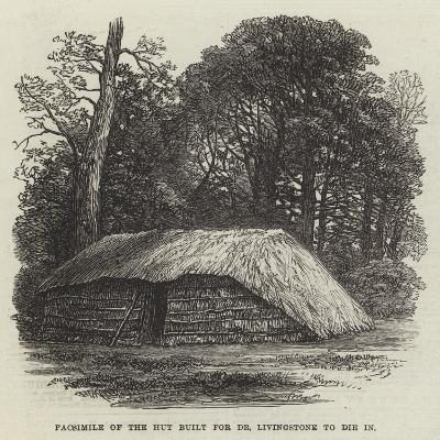 Facsimile of the Hut Built for Dr Livingstone to Die In--Giclee Print