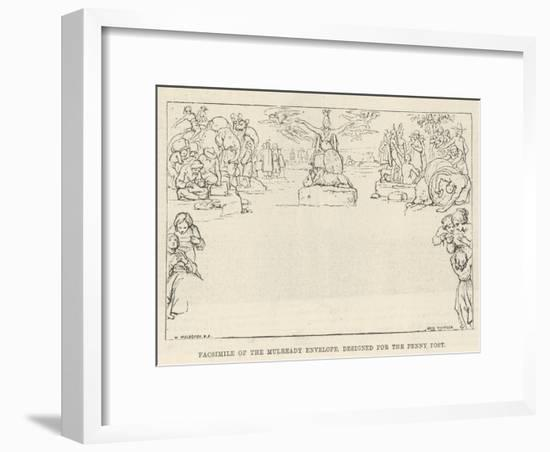 Facsimile of the Mulready Envelope, Designed for the Penny Post-William Mulready-Framed Giclee Print