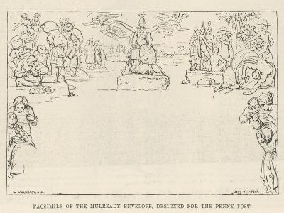 Facsimile of the Mulready Envelope, Designed for the Penny Post-William Mulready-Giclee Print