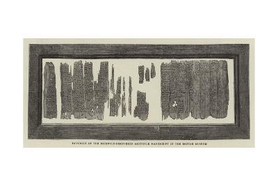 Facsimile of the Recently-Discovered Aristotle Manuscript in the British Museum--Giclee Print