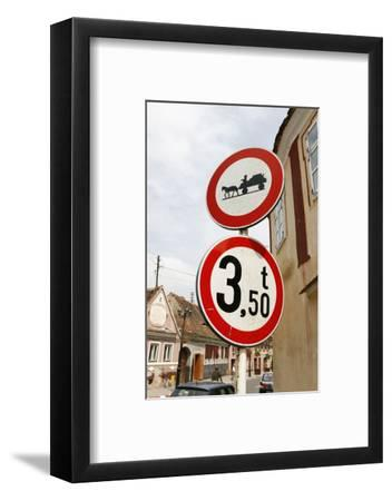 Romania, Road Signs, Ban Sign for Horses and Carts