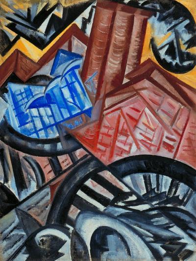 Factory and the Bridge-Olga Vladimirovna Rozanova-Giclee Print