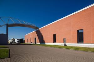 Factory building design by Alvaro Siza, Vitra Design Museum, Weil am Rhein, Baden-Wurttemberg, G...