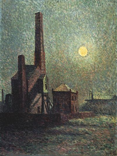Factory by Moonlight-Maximilien Luce-Giclee Print