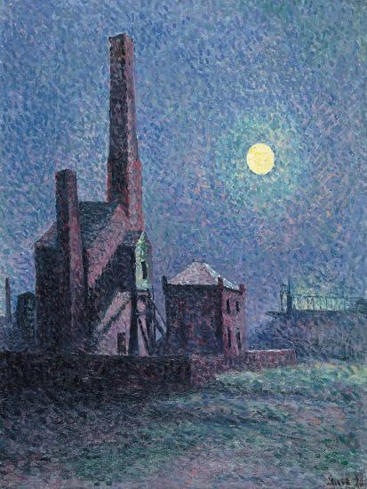 Factory in the Moonlight-Maximilien Luce-Giclee Print