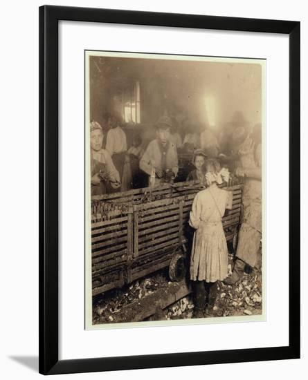 Factory of Lowden Canning Company-Lewis Wickes Hine-Framed Photographic Print
