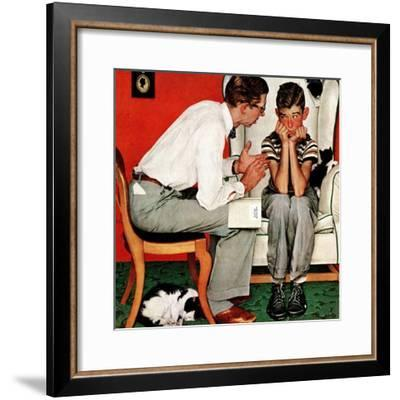 """""""Facts of Life"""", July 14,1951-Norman Rockwell-Framed Premium Giclee Print"""