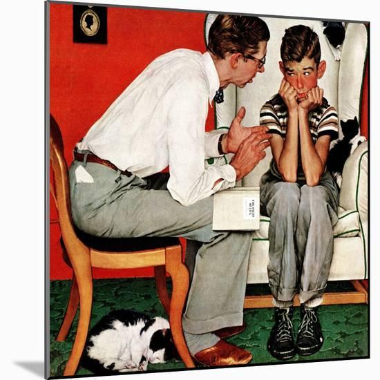 """""""Facts of Life"""", July 14,1951-Norman Rockwell-Mounted Premium Giclee Print"""