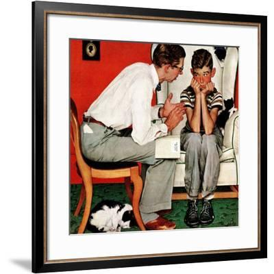 """Facts of Life"", July 14,1951-Norman Rockwell-Framed Premium Giclee Print"