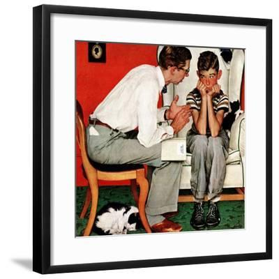 """Facts of Life"", July 14,1951-Norman Rockwell-Framed Giclee Print"