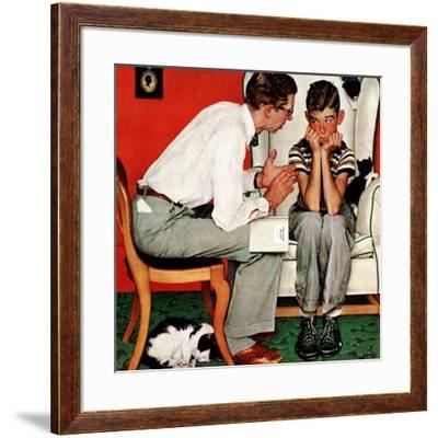 """""""Facts of Life"""", July 14,1951-Norman Rockwell-Framed Giclee Print"""