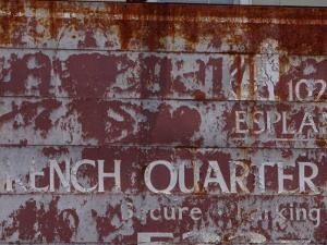 Faded French Quarter Sign, New Orleans, Louisiana, Usa