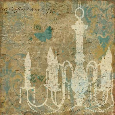Faded Ornate II Aqua-Pela Design-Art Print