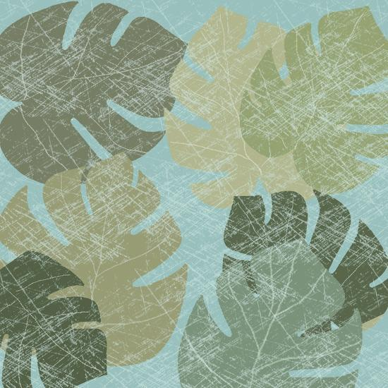 Faded Tropical Leaves II--Art Print