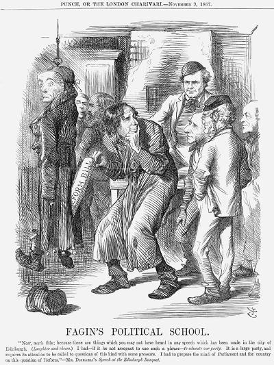 Fagin's Political School, 1867-John Tenniel-Giclee Print