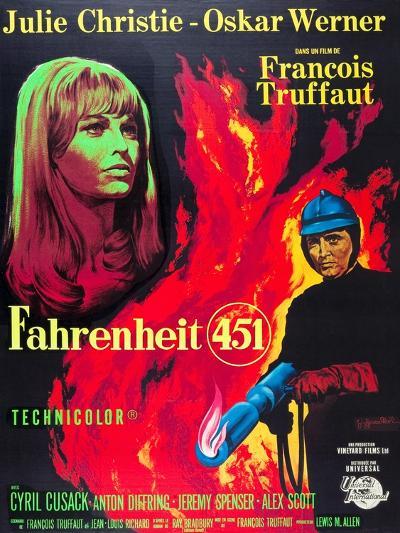 Fahrenheit 451, Julie Christie, Oskar Werner, 1966--Art Print