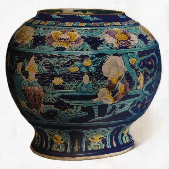 'Fahua jar with openwork design showing the Eight Daoist Immortals', c1550-Unknown-Giclee Print