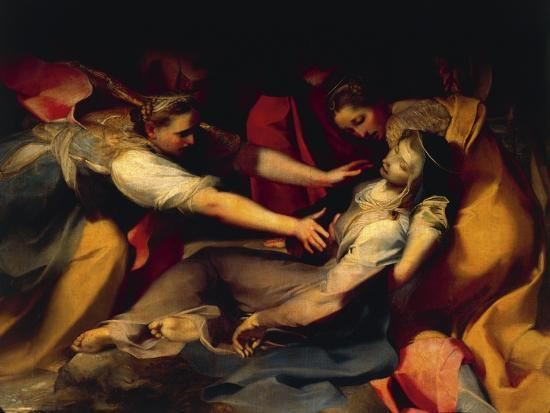Fainting of the Virgin, Detail from the 'Deposition of the Cross', 1569--Giclee Print