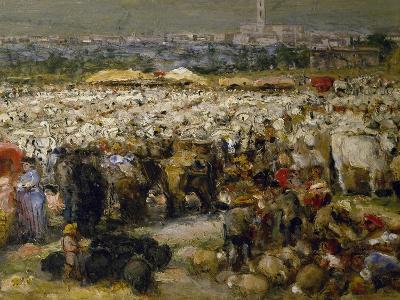 Fair at Monteluce, 1880-Guglielmo Mangiarelli-Giclee Print