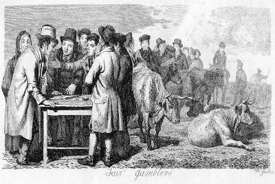 Fair Gamblers, Early 19th Century-Walter Geikie-Giclee Print