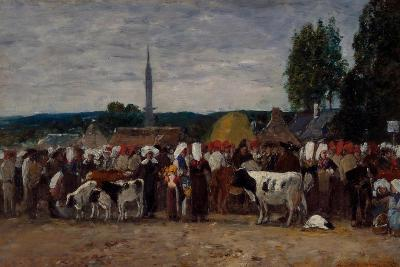 Fair in Brittany, 1874-Eugene Louis Boudin-Giclee Print