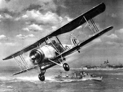 Fairey 'swordfish' Torpedo-Bomber; Second World War, 1941--Photographic Print