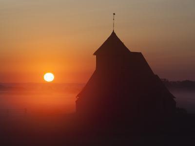 Fairfield Church at Sunrise, Romney Marsh, Near Rye, Kent, England, United Kingdom, Europe-Stuart Black-Photographic Print
