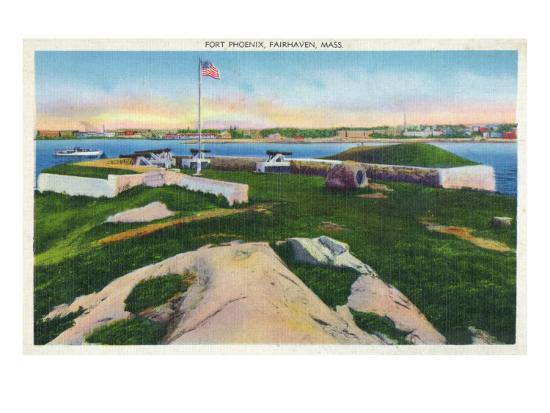 Fairhaven, Massachusetts - View of Fort Phoenix, c.1929-Lantern Press-Art Print