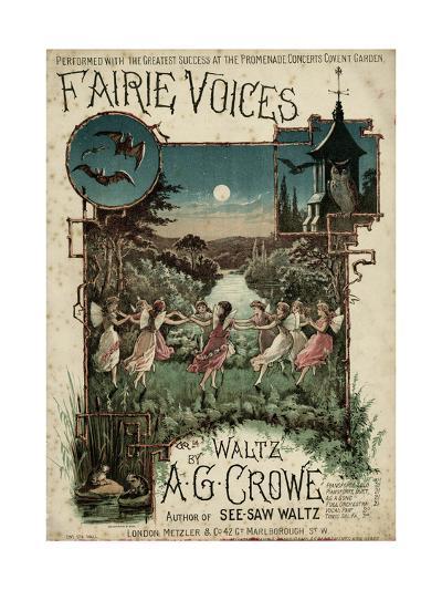 Fairie Voices C1860--Giclee Print