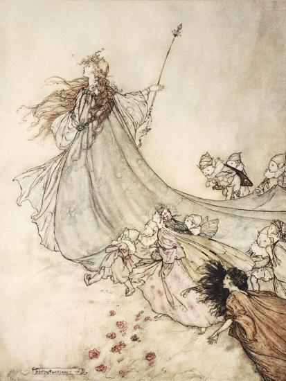 ..Fairies Away! We Shall Chide Downright, If I Longer Stay-Arthur Rackham-Premium Giclee Print