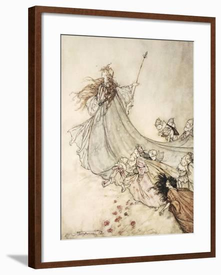 ..Fairies Away! We Shall Chide Downright, If I Longer Stay-Arthur Rackham-Framed Giclee Print